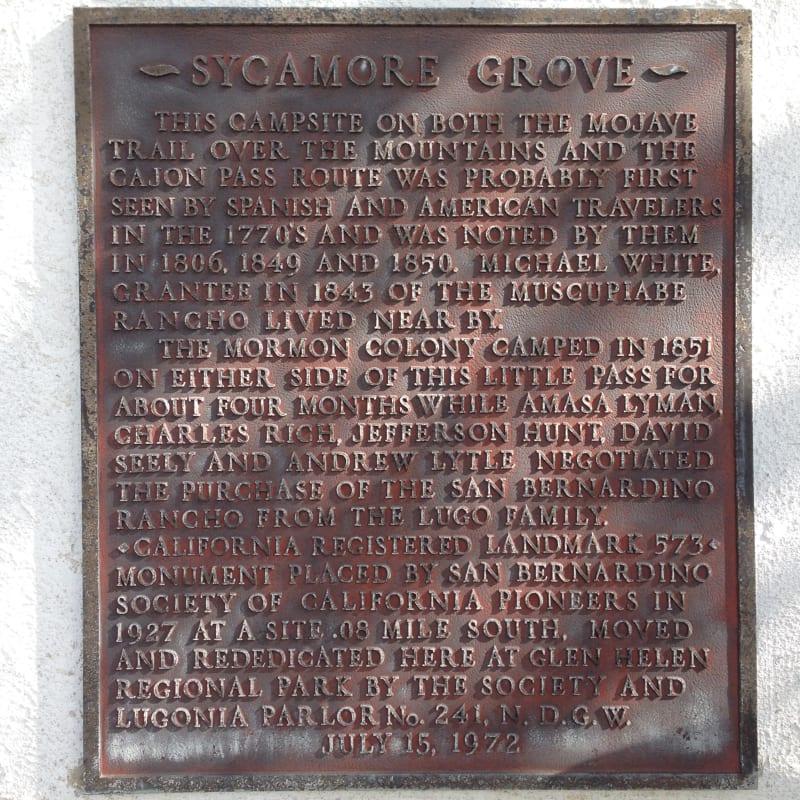 CHL #573  Sycamore Grove Private Plaque