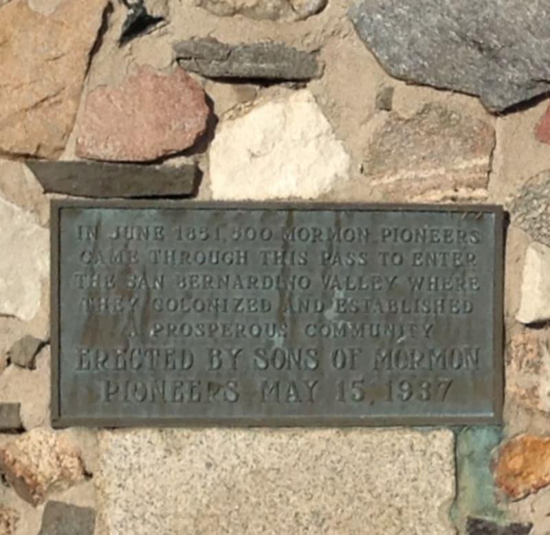 CHL #577 Mormon Trail Monument State Plaque
