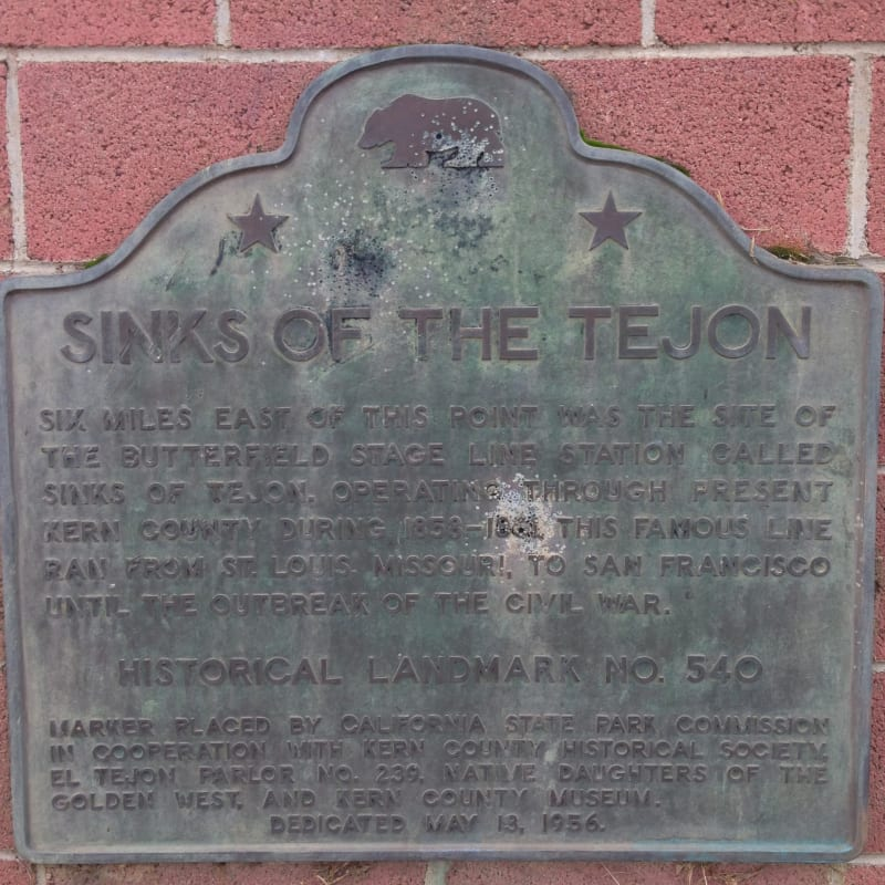 CHL #540 Sinks of the Tejón State Plaque