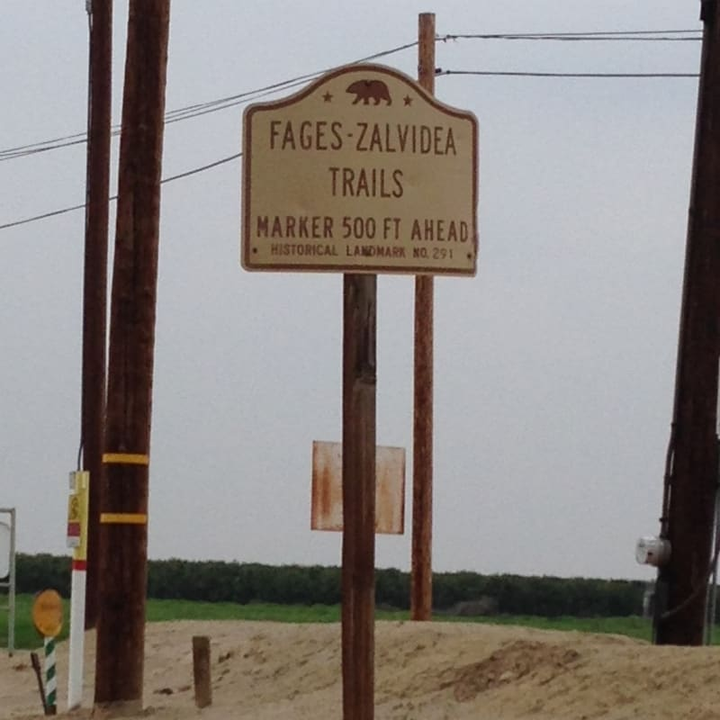 CHL #291 - Fages-Zalvidea Crossing Street Sign