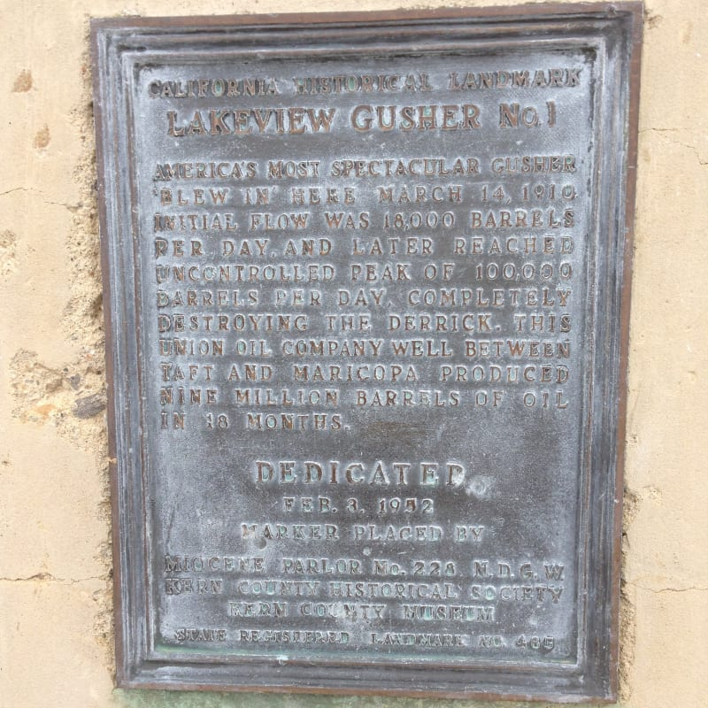 CHL #485  Lakeview Gusher 1 Private Plaque