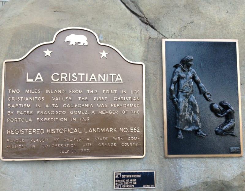 CHL 562 La Cristianita second plaque