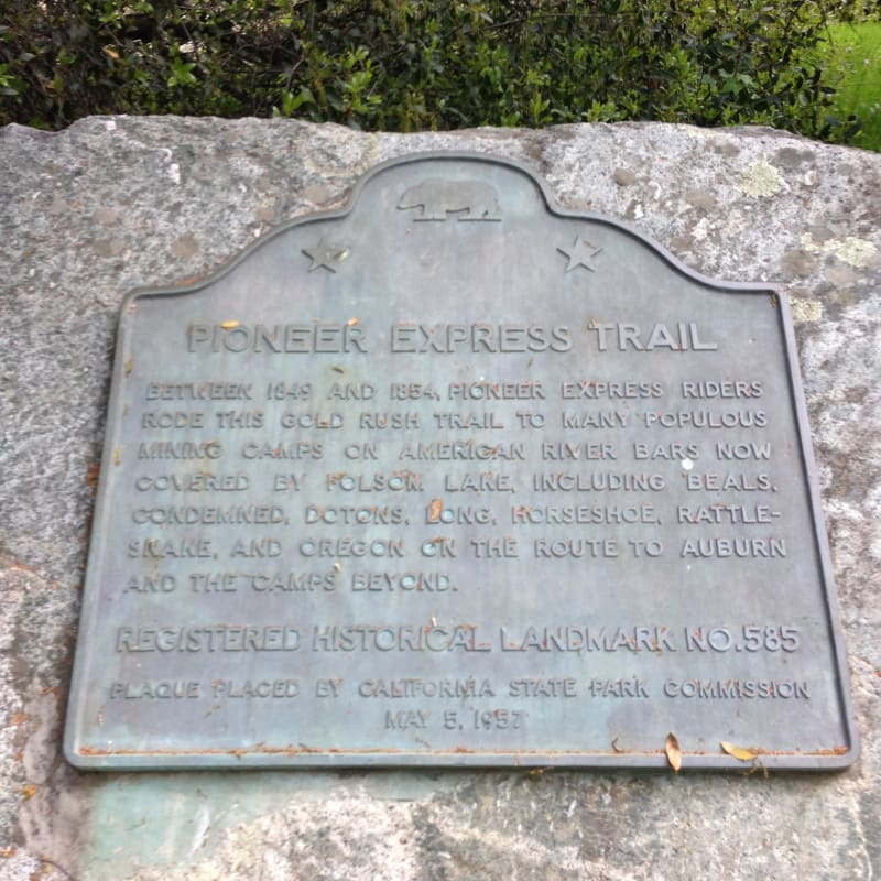 CSH #585 Pioneer Express Trail Plaque