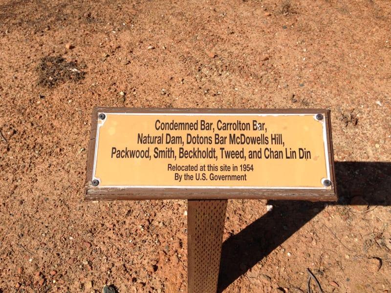 CHL No. 572 Condemned Bar graves moved to CHL No. 569 Mormon Island