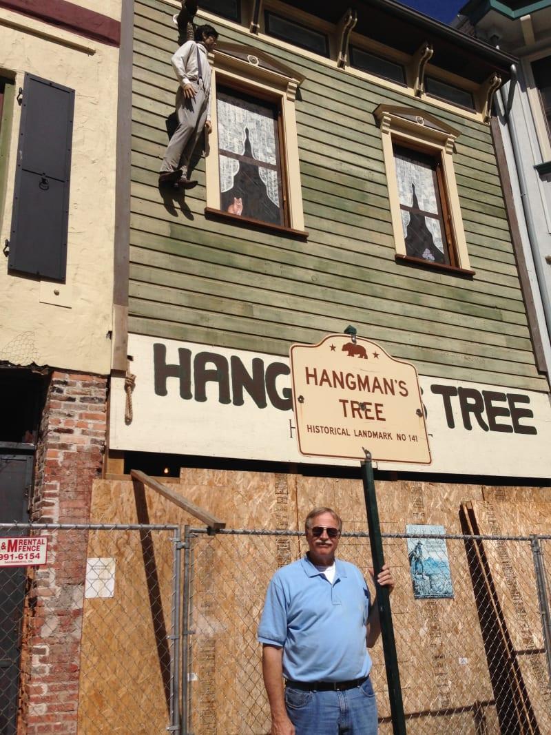 CHL No. 141 Hangman's Tree State Street Sign