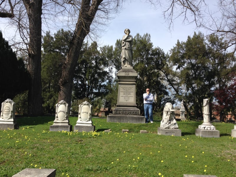CHL No. 566  Sacramento City Cemetery --  Crocker Family Plot