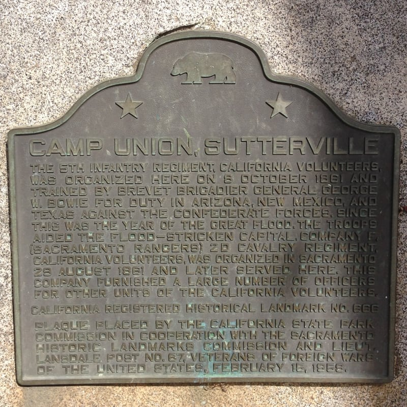 CHL No. 666 Camp Union Plaque