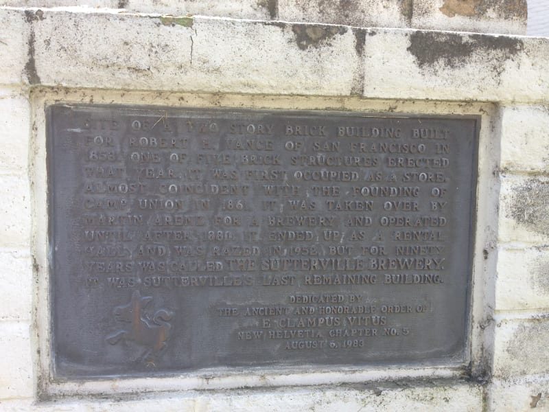 CHL No. 593  Sutterville Plaque