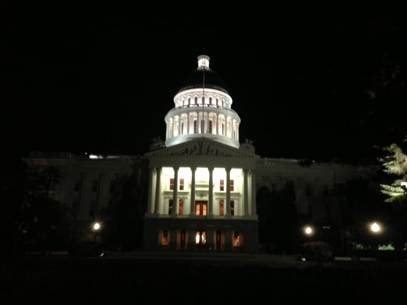 CHL No. 872 California's State Capitol Complex at night