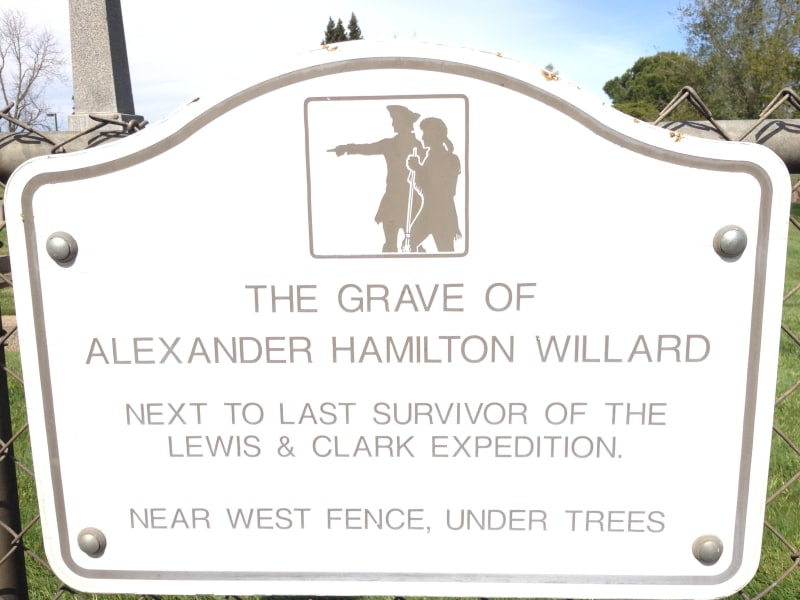 CHL No. 657  Grave of Alexander Hamilton Willard Street Sign