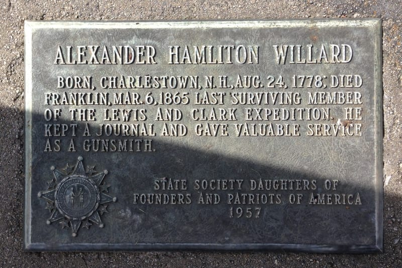 CHL No. 657  Grave of Alexander Hamilton Willard Private Marker