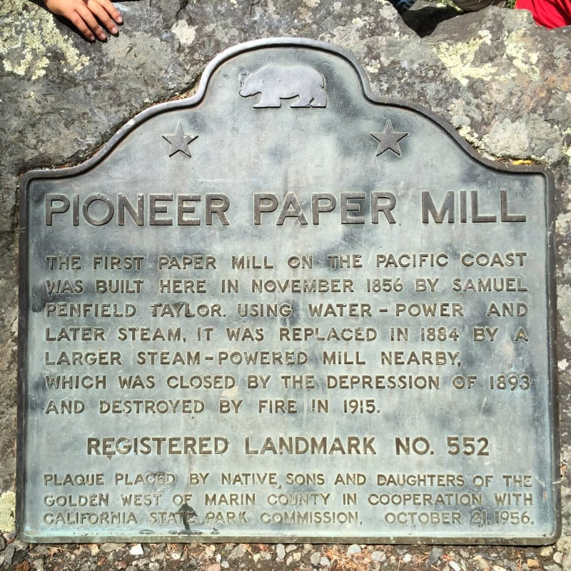 NO. 552 PIONEER PAPER MILL State Plaque