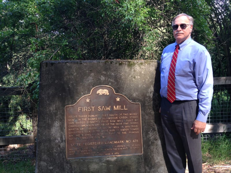 NO. 478 SITE OF SAN MATEO COUNTY'S FIRST SAWMILL Marker