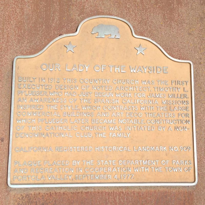 NO. 909 OUR LADY OF THE WAYSIDE, State Plaque