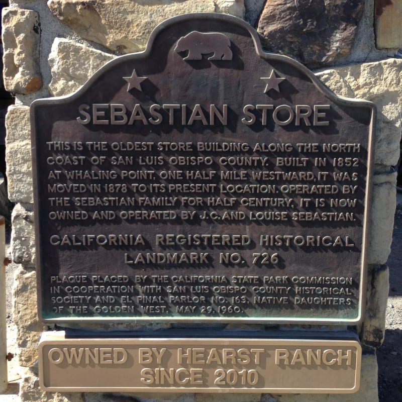 NO. 726 THE SEBASTIAN STORE, State Plaque