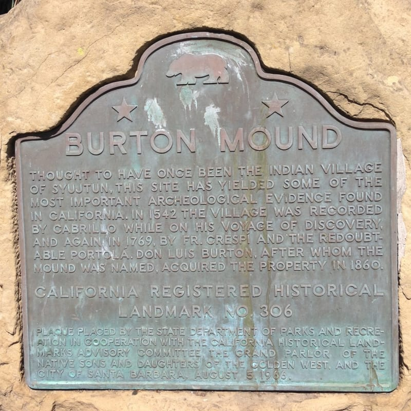 NO. 306 BURTON MOUND, State Plaque