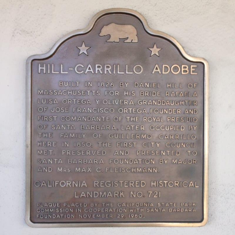 NO. 721 CARRILLO ADOBE, Plaque