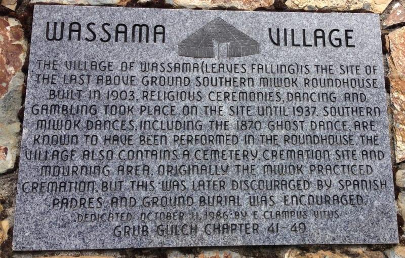 NO. 1001 WASSAMA ROUNDHOUSE, Private Plaque