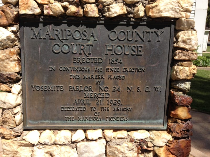 NO. 670 MARIPOSA COUNTY COURTHOUSE, Private Plaque