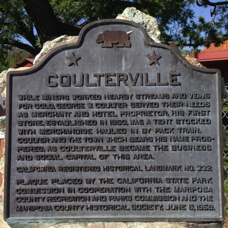 NO. 332 COULTERVILLE, State Plaque