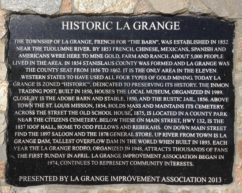 NO. 414 LA GRANGE, City Plaque