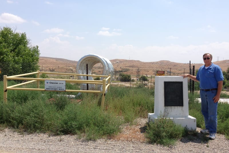 NO. 290 DISCOVERY WELL OF KERN RIVER OILFIELD, Marker