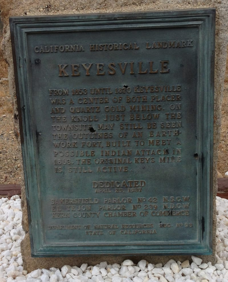 NO. 98 KEYSVILLE, Old style state plaque