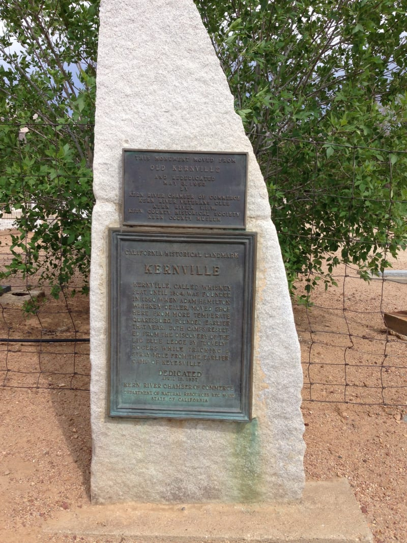 NO. 132 KERNVILLE, Old Style State Plaque