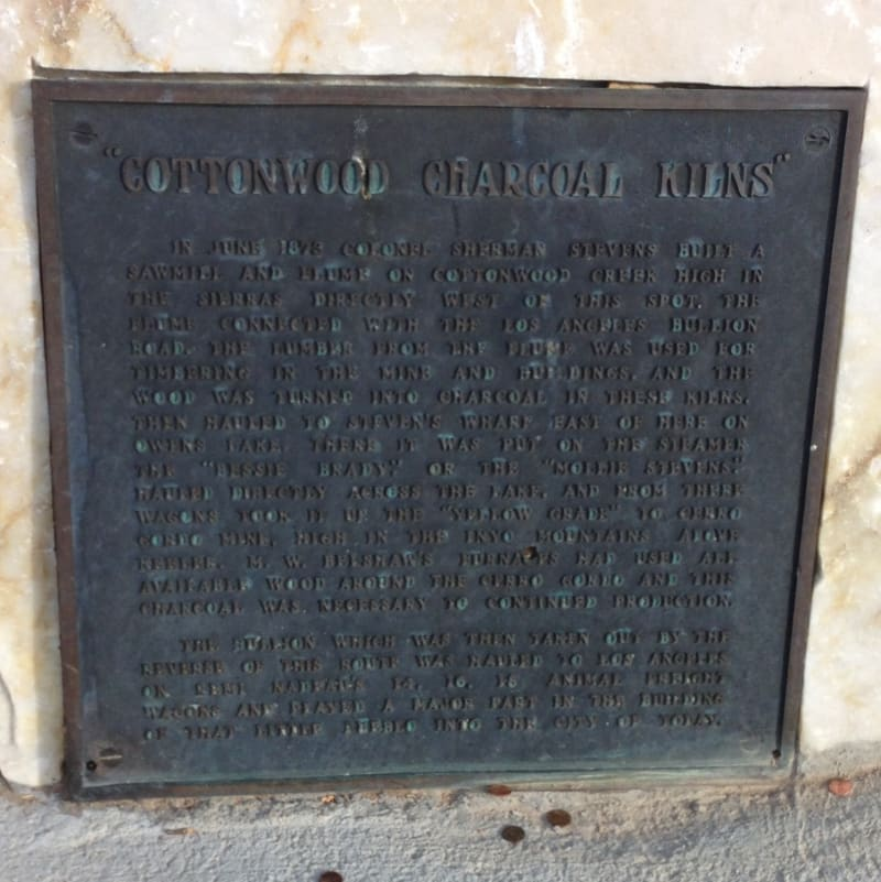 NO. 537 COTTONWOOD CHARCOAL KILNS, Private Plaque