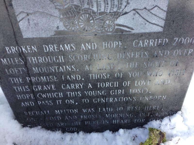 NO. 28 MAIDEN'S GRAVE, Memorial