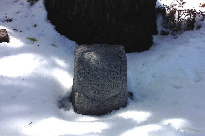 NO. 28 MAIDEN'S GRAVE, Headstone