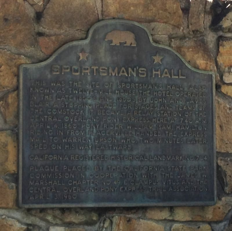 NO. 704 SPORTSMAN'S HALL OVERLAND PONY EXPRESS, State Plaque