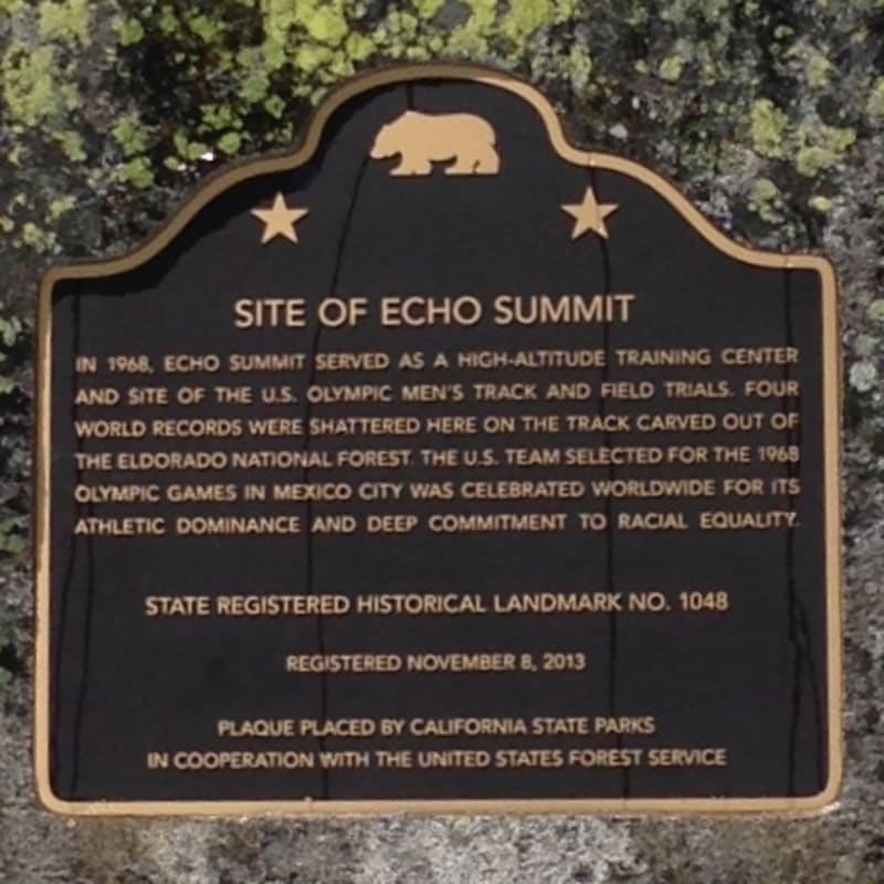 No. 1048 SITE OF ECHO SUMMIT, State Plaque
