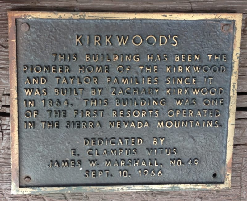 NO. 40 KIRKWOOD'S, Private Plaque