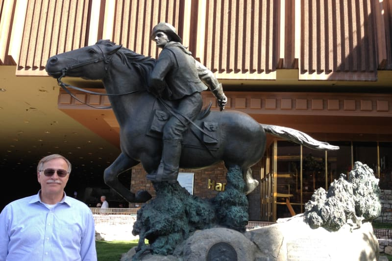 NO. 728 FRIDAY'S STATION-OVERLAND PONY EXPRESS, Statue