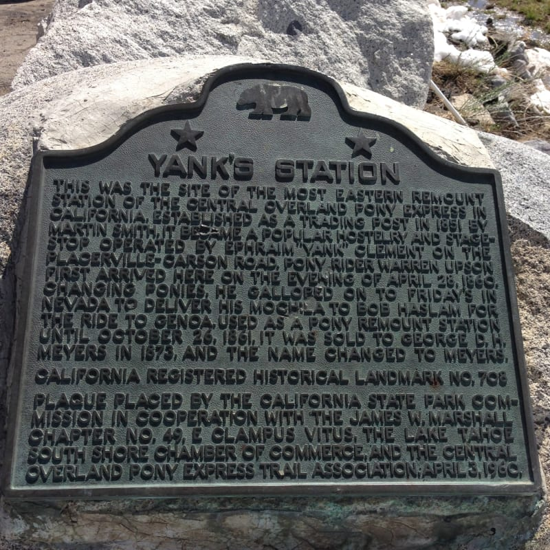 NO. 708 YANK'S STATION-OVERLAND PONY EXPRESS, State Plaque