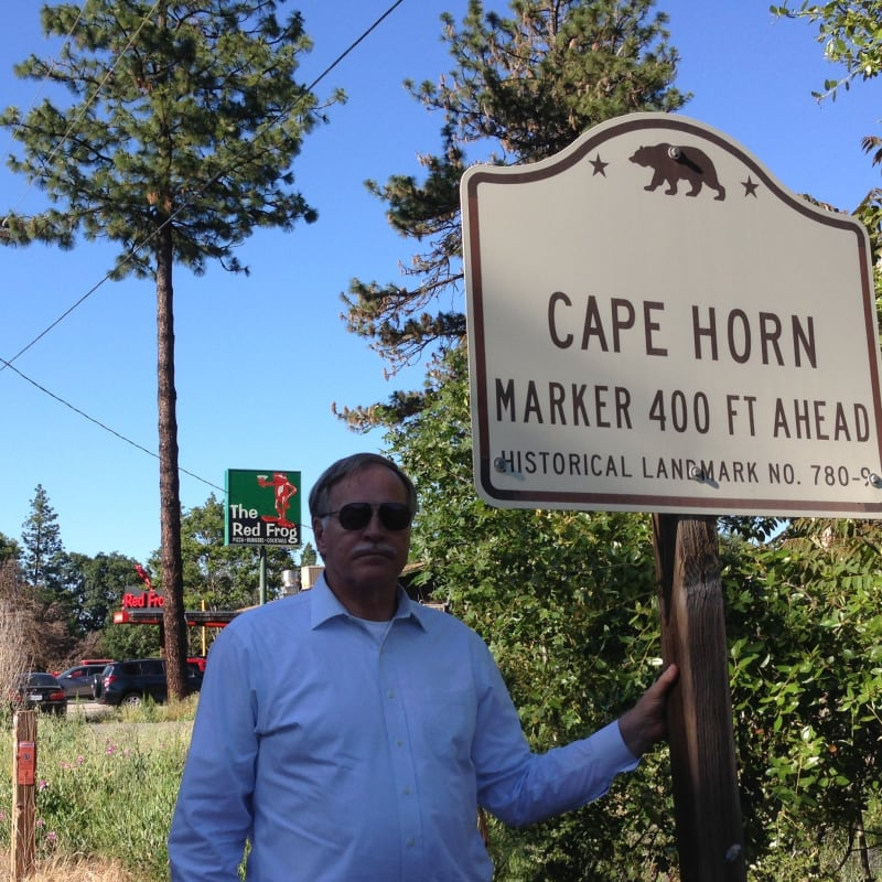 No. 780.9 Transcontinental Railroad - Cape Horn Promontory, State Street Sign