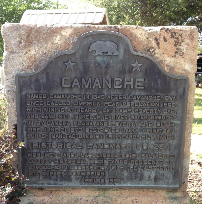 NO. 254 CAMANCHE  -  State Plaque