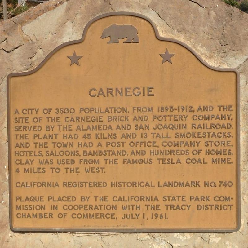 NO. 740 CARNEGIE - State Plaque