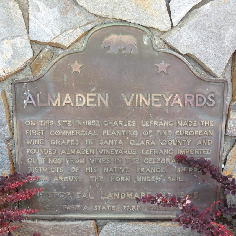 NO. 505 ALMADEN VINEYARDS - State Plaque