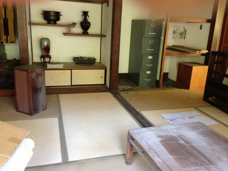 NO. 903 KOTANI-EN - Tea House Interior under repair (original  Tatami Mats)