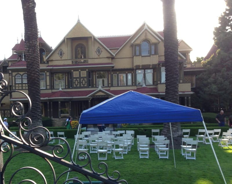 NO. 868 WINCHESTER HOUSE - Setting up for a wedding