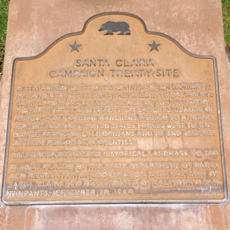 NO. 260 SANTA CLARA CAMPAIGN TREATY SITE - Second State Plaque