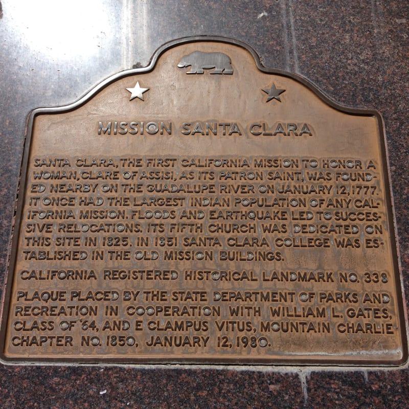 NO. 338 MISSION SANTA CLARA - State Plaque
