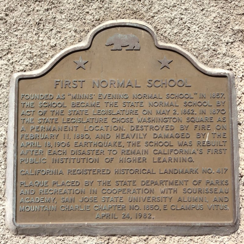 NO. 417 FIRST NORMAL SCHOOL IN CALIFORNIA - State Plaque