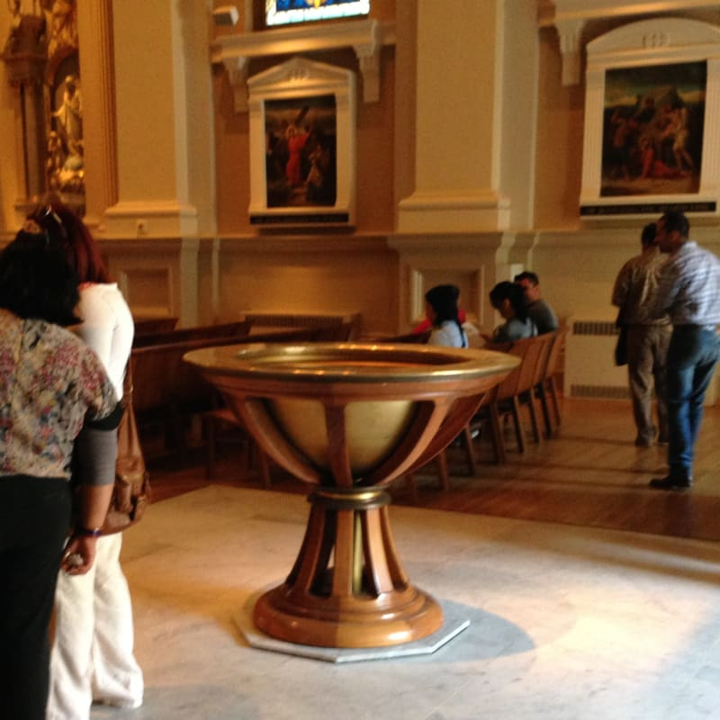 NO. 910  ST. JOSEPH'S CATHOLIC CHURCH - Baptismal Font