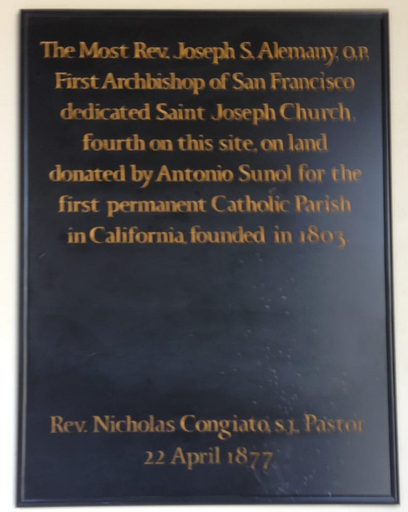 NO. 910  ST. JOSEPH'S CATHOLIC CHURCH - Private Plaque