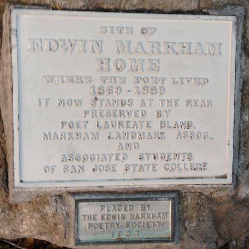 NO. 416 EDWIN MARKHAM HOME - Private Plaque at Original Site