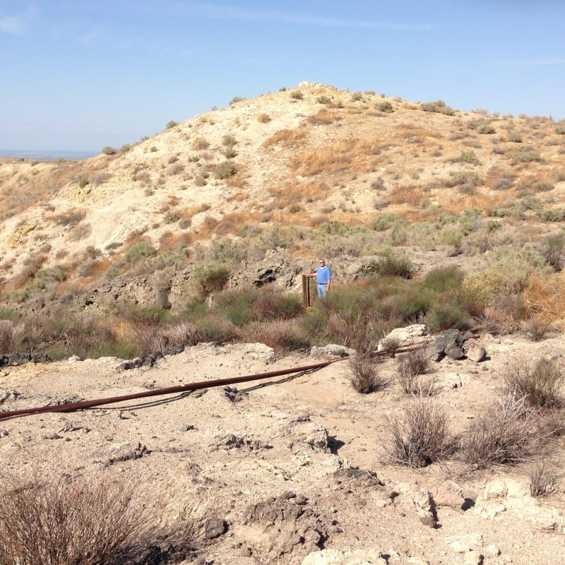NO. 376 CALIFORNIA STANDARD OIL WELL 1 -  aged wood post still in the ground