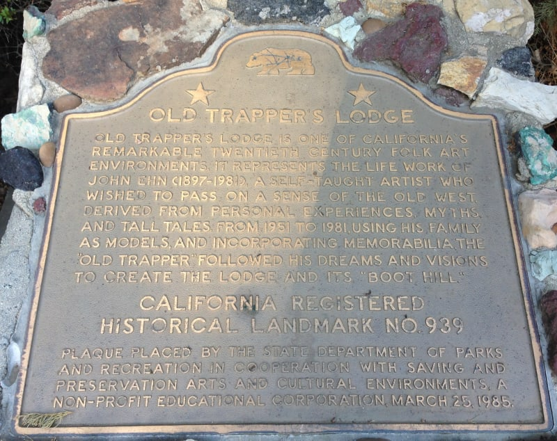 NO. 939  OLD TRAPPER'S LODGE - State Plaque